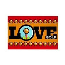 Golf Love Rectangle Magnet