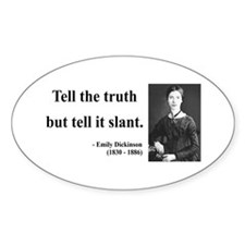 Emily Dickinson 5 Oval Decal