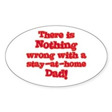Stay-At-Home Dad Oval Decal