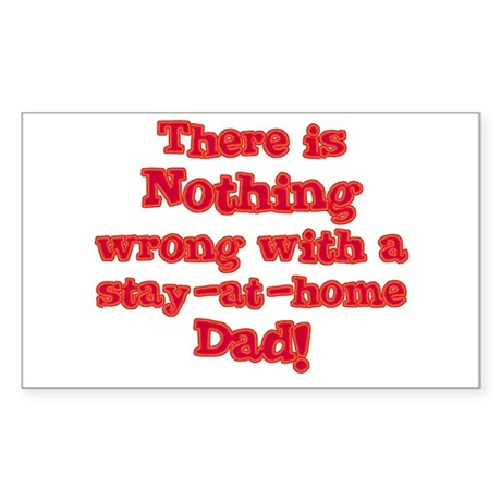 Stay-At-Home Dad Rectangle Sticker