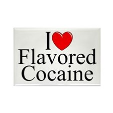"""""""I Love (Heart) Flavored Cocaine"""" Rectangle Magnet"""