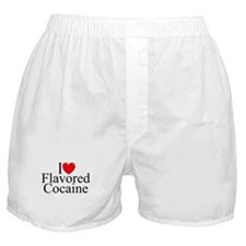 """I Love (Heart) Flavored Cocaine"" Boxer Shorts"