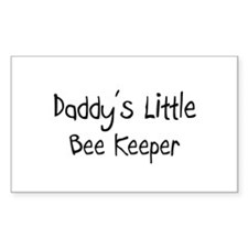 Daddy's Little Bee Keeper Rectangle Decal