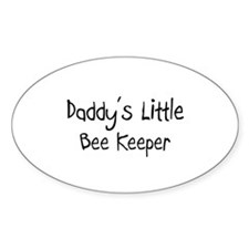 Daddy's Little Bee Keeper Oval Decal