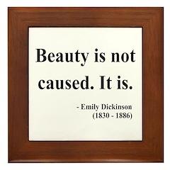 Emily Dickinson 4 Framed Tile