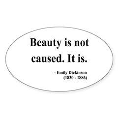Emily Dickinson 4 Oval Decal