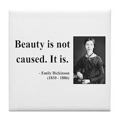 Emily Dickinson 4 Tile Coaster