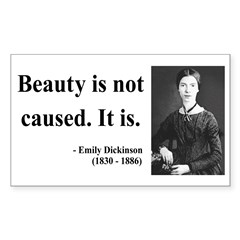 Emily Dickinson 4 Rectangle Decal