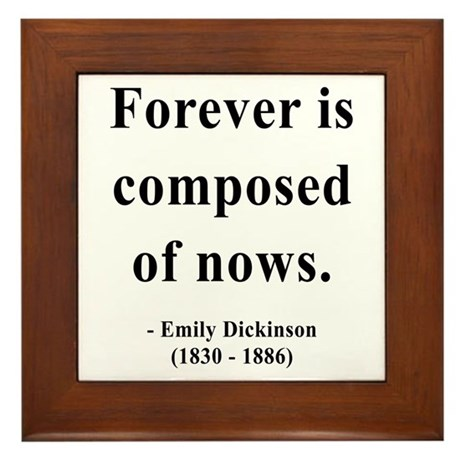 Emily Dickinson 3 Framed Tile