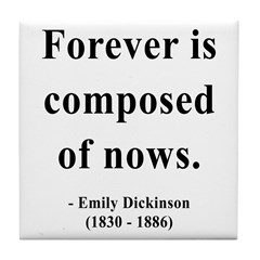 Emily Dickinson 3 Tile Coaster