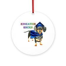 Education Rocks 2 Ornament (Round)