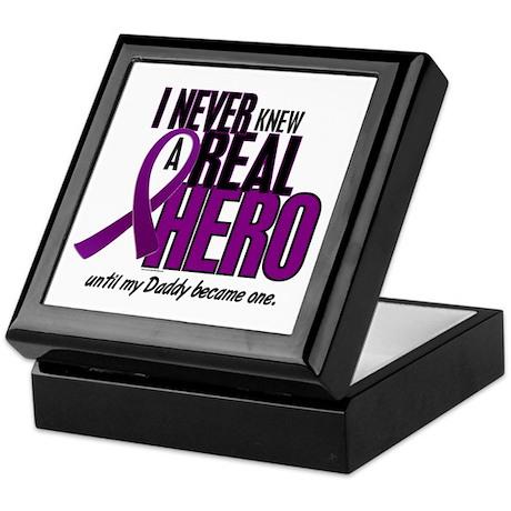 Never Knew A Hero 2 Purple (Daddy) Keepsake Box