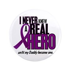 "Never Knew A Hero 2 Purple (Daddy) 3.5"" Button"