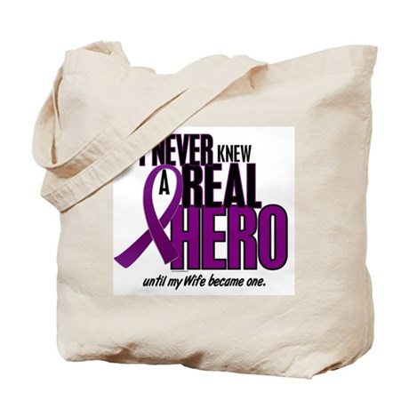 Never Knew A Hero 2 Purple (Wife) Tote Bag