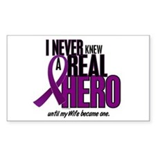 Never Knew A Hero 2 Purple (Wife) Decal