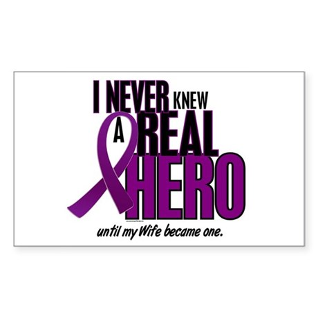 Never Knew A Hero 2 Purple (Wife) Sticker (Rectang