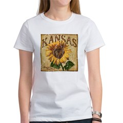 Kansas - Sunflower (Aged) Women's T-Shirt