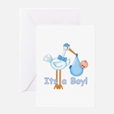 It's a Boy! Stork Greeting Card