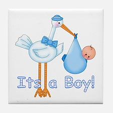 It's a Boy! Stork Tile Coaster