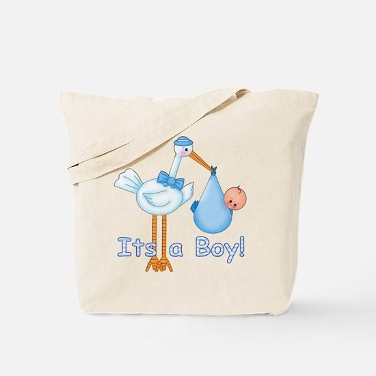 It's a Boy! Stork Tote Bag