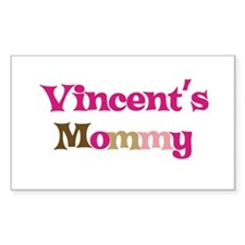 Vincent's Mommy Rectangle Decal