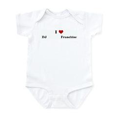 I Love DJ Infant Bodysuit