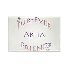 Akita Furever Rectangle Magnet