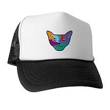 Pop Art Cat Face Trucker Hat