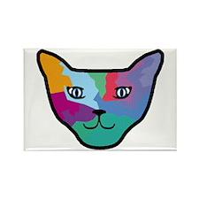 Pop Art Cat Face Rectangle Magnet