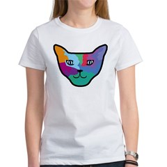 Pop Art Cat Face Tee