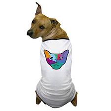 Pop Art Cat Face Dog T-Shirt
