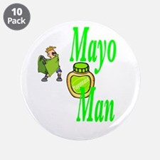 "Mayo Man 3.5"" Button (10 pack)"