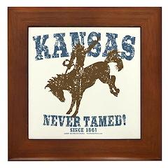 Kansas - Never Tamed (Bronco) Framed Tile