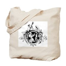 Devil Illustration Tote Bag