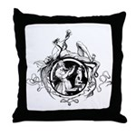 Devil Illustration Throw Pillow