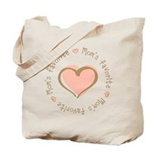 Mom's Favorite Girl Heart Tote Bag