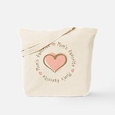 Mom's Favorite Girl Heart Tote Bag