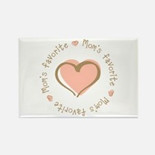 Mom's Favorite Girl Heart Rectangle Magnet