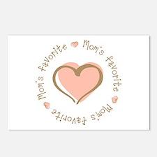 Mom's Favorite Girl Heart Postcards (Package of 8)