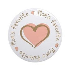 Mom's Favorite Girl Heart Ornament (Round)