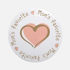 Mom's Favorite Girl Heart Ornament (Round)