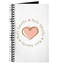 Mom's Favorite Girl Heart Journal