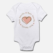 Mom's Favorite Girl Heart Infant Bodysuit
