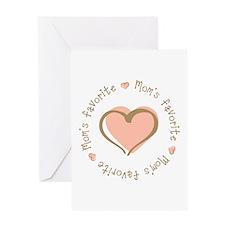 Mom's Favorite Girl Heart Greeting Card