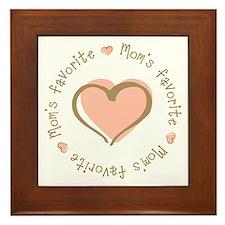 Mom's Favorite Girl Heart Framed Tile