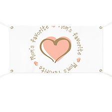 Mom's Favorite Girl Heart Banner