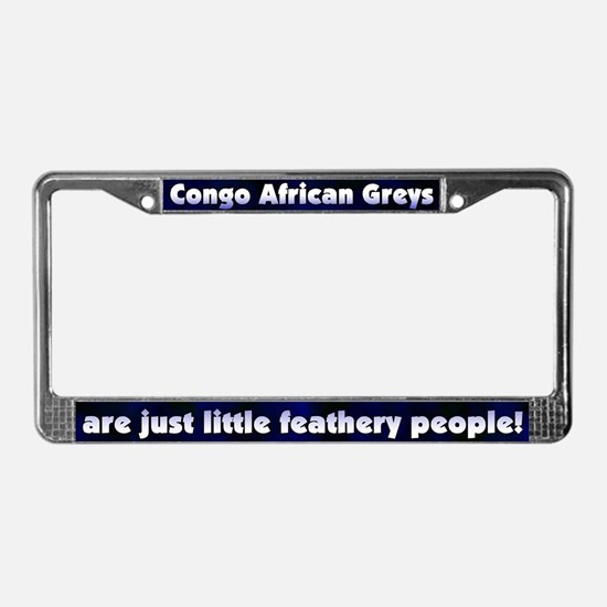 Feathery People Congo Af Grey License Plate Frame