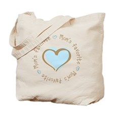 Mom's Favorite Boy Heart Tote Bag