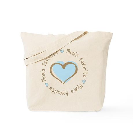 Mom's Favorite Boy Heart Tote Bag