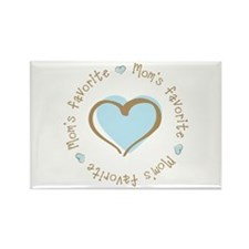 Mom's Favorite Boy Heart Rectangle Magnet (100 pac